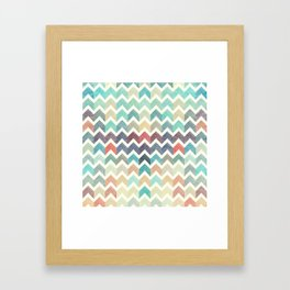 Glitter Chevron IV Framed Art Print
