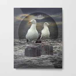 Gertrude and Heathcliff Metal Print
