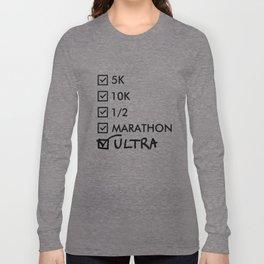 Ultra Marathon Running Long Sleeve T-shirt