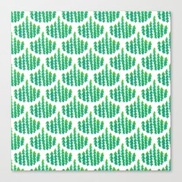 Natural Leaves Beautiful Scalloped Pattern Canvas Print