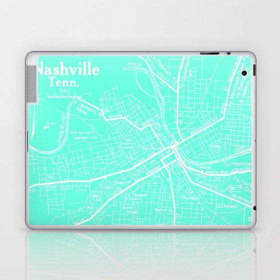 Vintage Nashville Turquois Laptop & iPad Skin