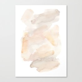 Sandy Calm - Elegant Abstract Watercolor Art Canvas Print