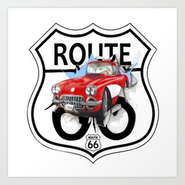 Route 66 USA Art Print