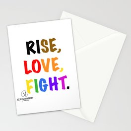Rise, Love, Fight. Stationery Cards