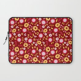 Autumn floral - red Laptop Sleeve