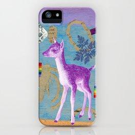 rainbow deer 2 iPhone Case