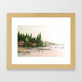 Attean Lake, Maine Framed Art Print