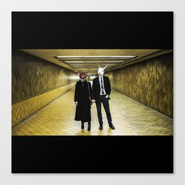 Rabbit And The Fox - TUNNEL Canvas Print