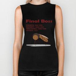 Final Boss - Red Letters Biker Tank