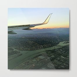 Landing together with the sun Metal Print
