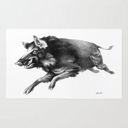 Running Boar Rug