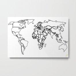 Sovereign Map Metal Print