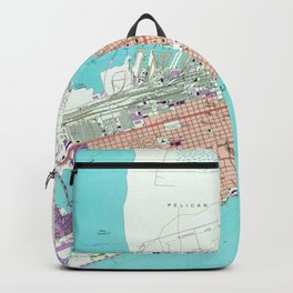 Vintage Map of Galveston Texas (1954) Backpack