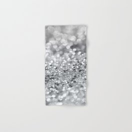 Silver Gray Lady Glitter #1 #shiny #decor #art #society6 Hand & Bath Towel