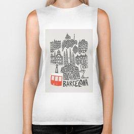 Barcelona Cityscape Biker Tank