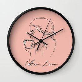 Coffee Lover. Wall Clock
