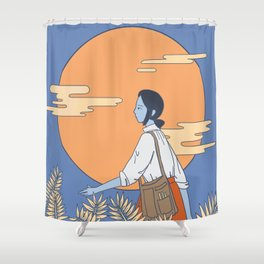 Monday Moonlight Shower Curtain