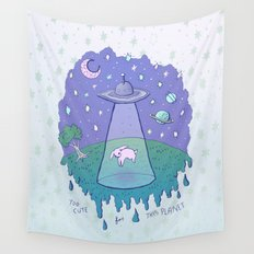 Too Cute For This Planet Wall Tapestry