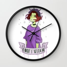 comfy witch Wall Clock