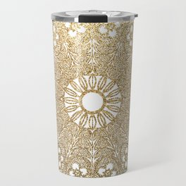 Golden Doily Travel Mug
