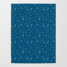 Pattern Blue 5 Rapport Poster