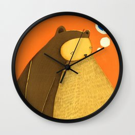 broken blue heart Wall Clock