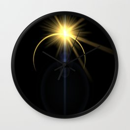 Eclipse lens flare Wall Clock