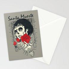 Santa muerte Rose Stationery Cards