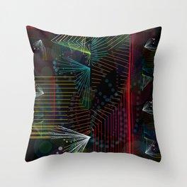 Rhythm Lines Throw Pillow