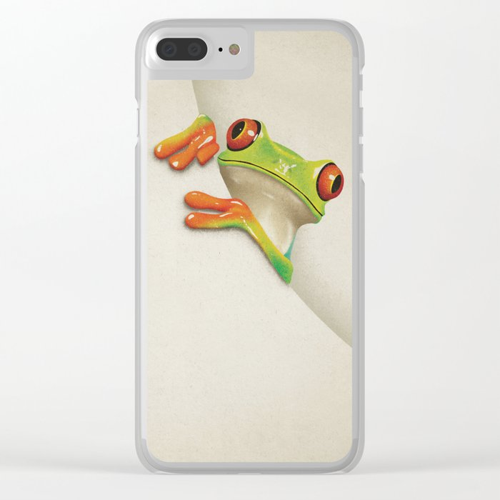 Little Red Eyed Tree Frog Clear iPhone Case
