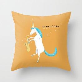 Tuneicorn Throw Pillow