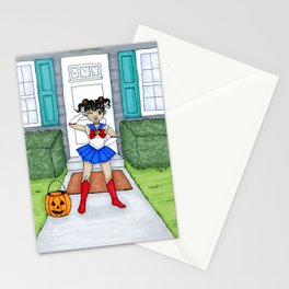Fighting Evil By Moonlight Stationery Cards