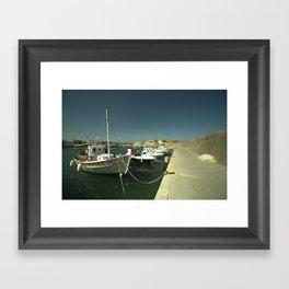 Hersonissos Harbour Framed Art Print