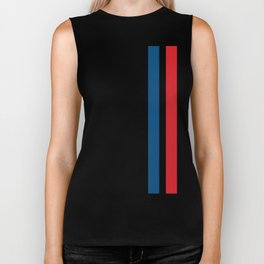 McQueen – Red and Blue Stripes Biker Tank
