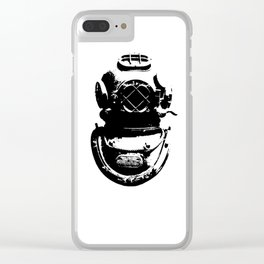 Diving Helmet Clear iPhone Case