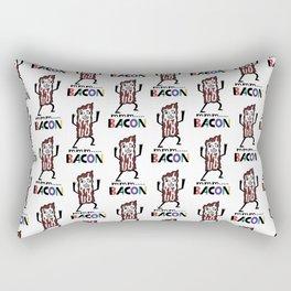 mmm bacon Rectangular Pillow