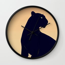 Sunset Black Panther Wall Clock