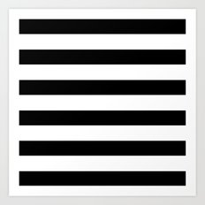 Simply Stripes in Midnight Black Art Print