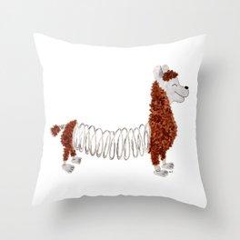 Slinky Llama Throw Pillow