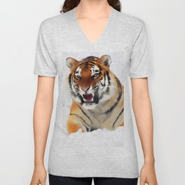 Snow Tiger Unisex V-Neck