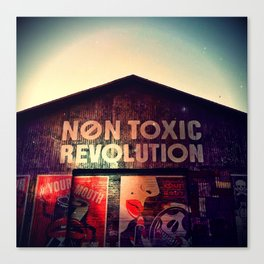 Toxic Lips Canvas Print