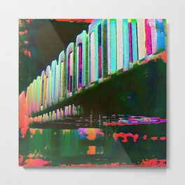 Dominos in the Sky with Rainbows Metal Print