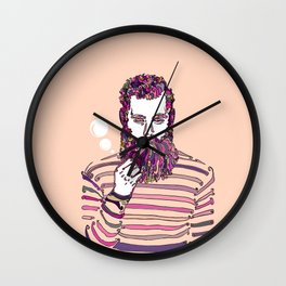 Sea Wolf Ghost (Red Version) Wall Clock