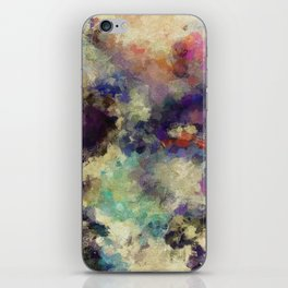 Contemporary Abstract Painting in Purple / Violet Color iPhone Skin
