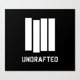 Undrafted Canvas Print