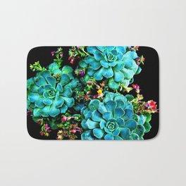 Beautiful Autumn plant green, blue Bath Mat