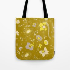 large flowers - mustards Tote Bag