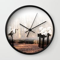 coven Wall Clocks featuring Coven by Infaustus