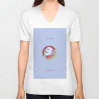 castlevania V-neck T-shirts featuring VAMPIRE KILLER - CASTLEVANIA - JOJO by Mirco Greselin