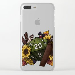 Ranger Class D20 - Tabletop Gaming Dice Clear iPhone Case